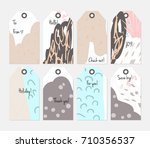 hand drawn creative tags.... | Shutterstock .eps vector #710356537