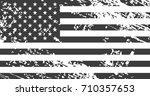 grunge american flag. vintage... | Shutterstock .eps vector #710357653