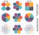 set with infographics. data and ... | Shutterstock .eps vector #710371267