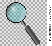 magnifying glass isolated on... | Shutterstock .eps vector #710407897