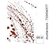 blood splatters on white. vector   Shutterstock .eps vector #710436577
