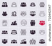 people icons  group of people ... | Shutterstock .eps vector #710442547