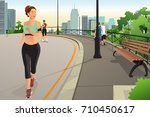 a vector illustration of... | Shutterstock .eps vector #710450617