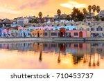 capitola village sunset... | Shutterstock . vector #710453737