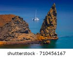 galapagos islands. traveling by ... | Shutterstock . vector #710456167