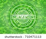 engagement green emblem. mosaic ... | Shutterstock .eps vector #710471113
