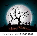 halloween background | Shutterstock . vector #710485207