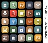 library flat icons with long... | Shutterstock .eps vector #710485567