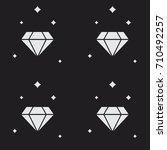 glittering diamond seamless... | Shutterstock .eps vector #710492257