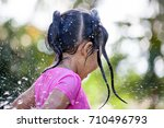 cute asian child girl having... | Shutterstock . vector #710496793