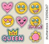 cute girly sticker patch design ... | Shutterstock .eps vector #710506267