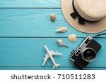 summer holiday background ... | Shutterstock . vector #710511283