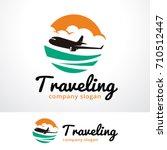 traveling logo template design...   Shutterstock .eps vector #710512447