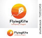 flying kite logo template... | Shutterstock .eps vector #710512453