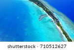 aerial view of island resort... | Shutterstock . vector #710512627