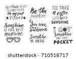 sunshine hand lettering quotes
