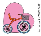 cute tricycle with heart | Shutterstock .eps vector #710520637