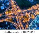 bangkok expressway top view ... | Shutterstock . vector #710525317