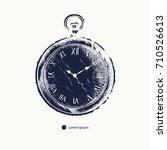 vintage pocket watch hand drawn....   Shutterstock .eps vector #710526613