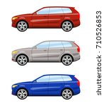 set of cars side view different ... | Shutterstock . vector #710526853
