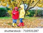two little best friends and... | Shutterstock . vector #710531287