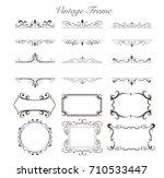 vintage frames | Shutterstock .eps vector #710533447