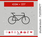 bicycle line icon   Shutterstock .eps vector #710539477