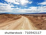 road in the prairie country | Shutterstock . vector #710542117