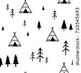 scandinavian geometric seamless ... | Shutterstock .eps vector #710545693