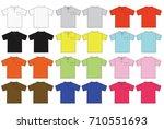 illustration of polo shirt  ... | Shutterstock .eps vector #710551693