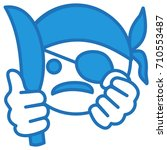 angry thug wearing a bandanna...