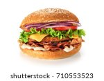home made hamburger with... | Shutterstock . vector #710553523