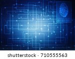 fingerprint scanning technology ... | Shutterstock . vector #710555563