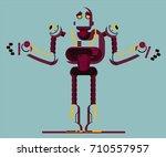robot illustration | Shutterstock . vector #710557957