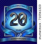 20 years anniversary design... | Shutterstock .eps vector #710561323