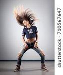 modern young beautiful dancer... | Shutterstock . vector #710567647