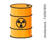 barrel with dangerous substance....   Shutterstock .eps vector #710567893