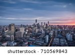 night view of beijing city | Shutterstock . vector #710569843