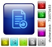 undo document changes icons in... | Shutterstock .eps vector #710573653