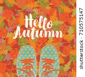 autumn banner with the... | Shutterstock .eps vector #710575147