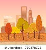 Autumn Park And City  High...