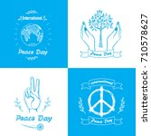posters for international peace ... | Shutterstock .eps vector #710578627