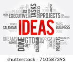 ideas word cloud collage ... | Shutterstock .eps vector #710587393