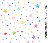 festive seamless pattern... | Shutterstock .eps vector #710618407