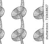 mushrooms. black and white... | Shutterstock .eps vector #710618827