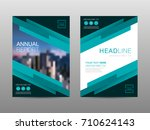 annual report brochure layout... | Shutterstock .eps vector #710624143