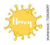 vector cartoon style honey blot.... | Shutterstock .eps vector #710628697