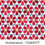 seamless vector floral... | Shutterstock .eps vector #71064577