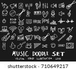 music doodles line vector... | Shutterstock .eps vector #710649217