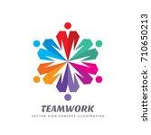teamwork vector logo template... | Shutterstock .eps vector #710650213